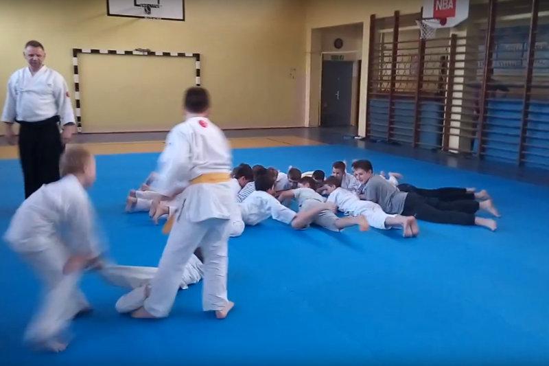 Trening młodszych Aikidoków